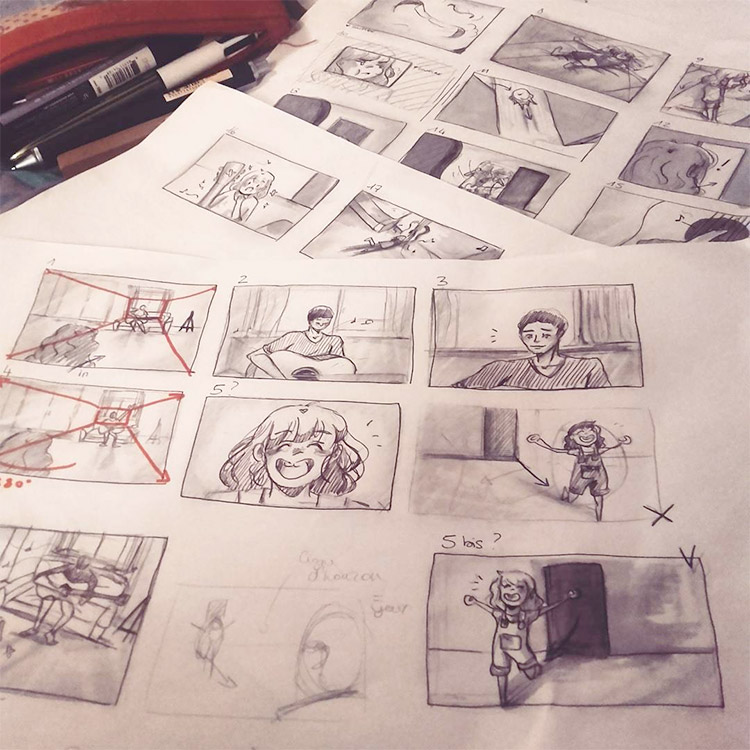 storyboarding sketch examples