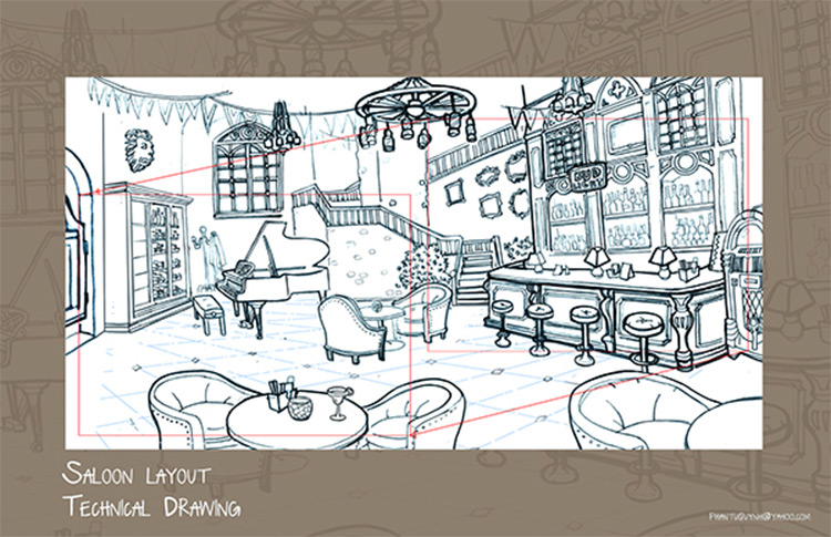 layout art example