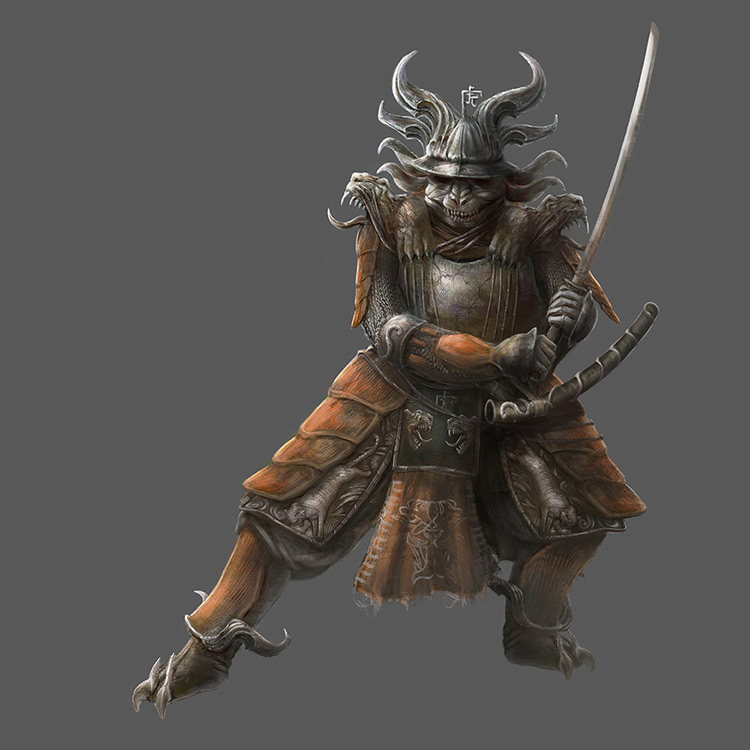 samurai character art