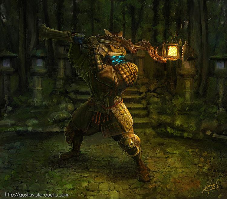 samurai character concept art