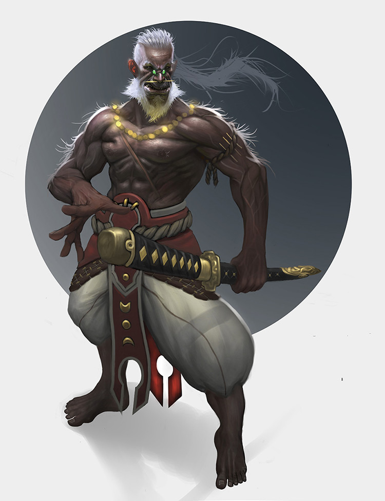 samurai character warrior art