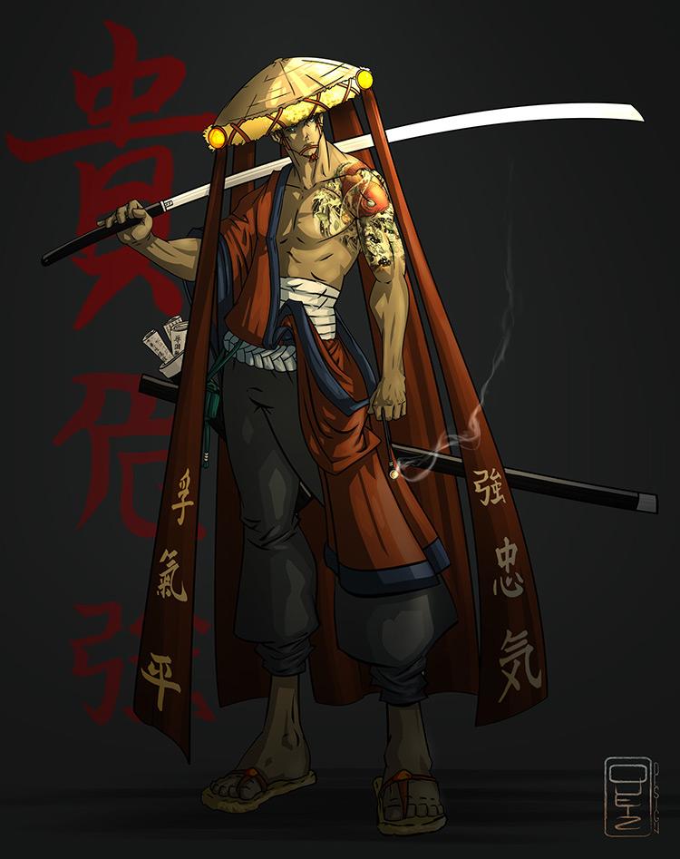samurai genjuro caharcter art
