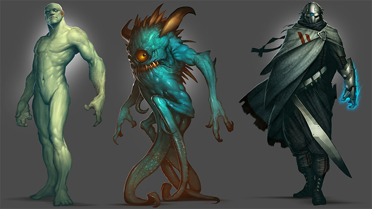 Advanced creature painting course by Pluralsight