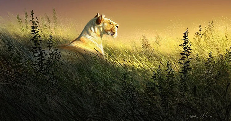 Aaron Blaise - savannah animal digital painting