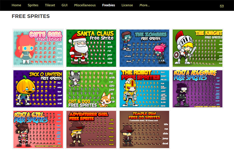 Top 6 Sites To Download Free Game Art, Sprites & Assets