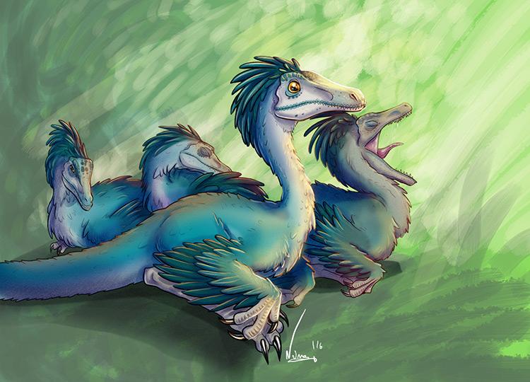 dinosaur creature character art concept
