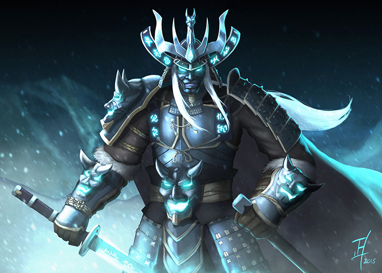lich shogun lichking illustration art