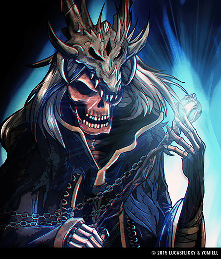lich fantasy skeleton art illustration concept