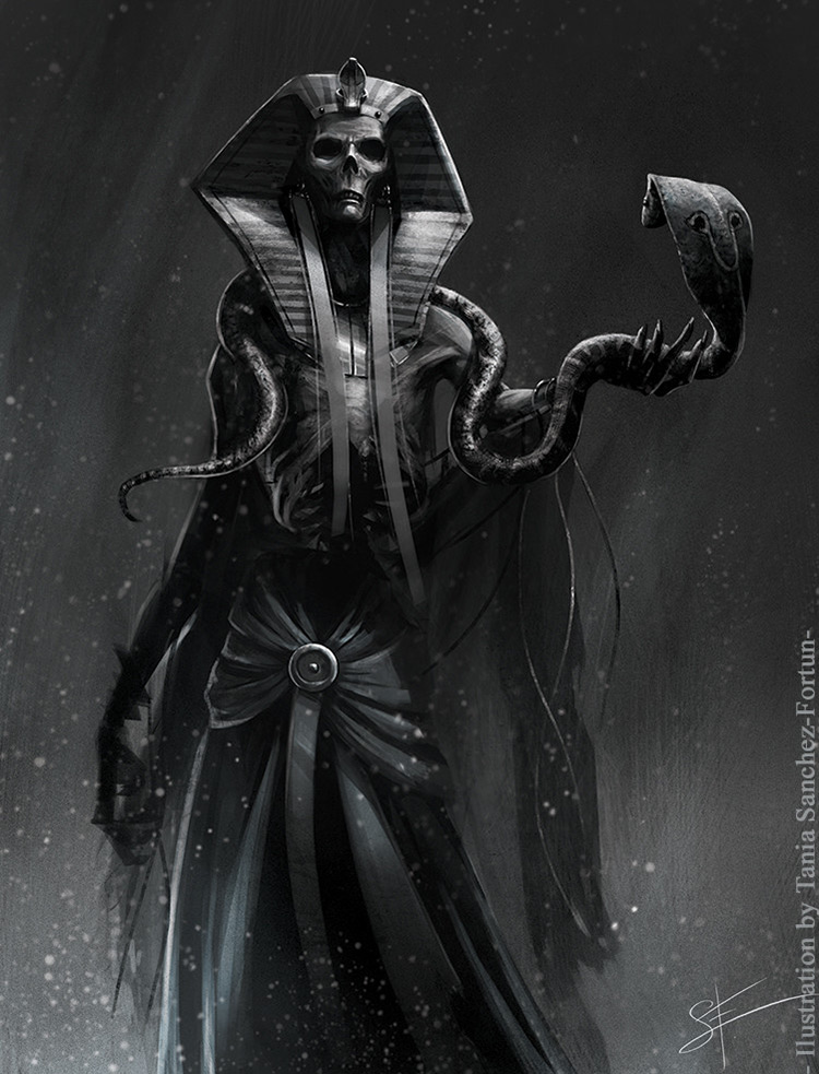 lich egiptian pharaoh art illustration concept
