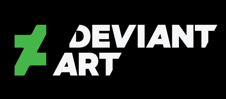 DeviantArt logo dark