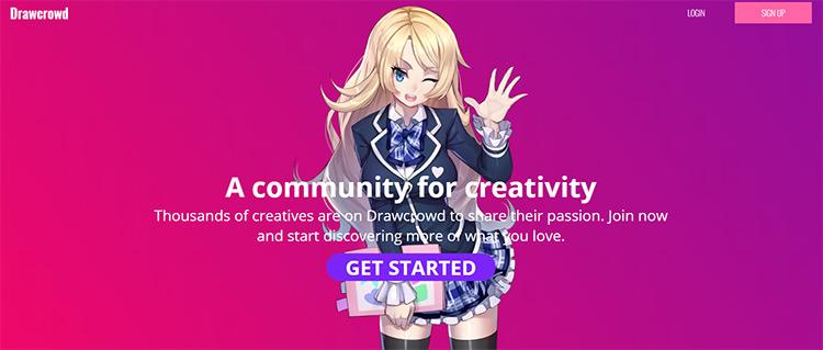 Drawcrowd homepage