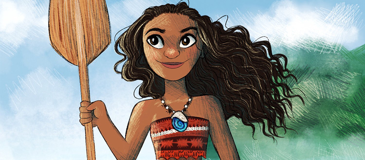Moana Digital Painting Artwork