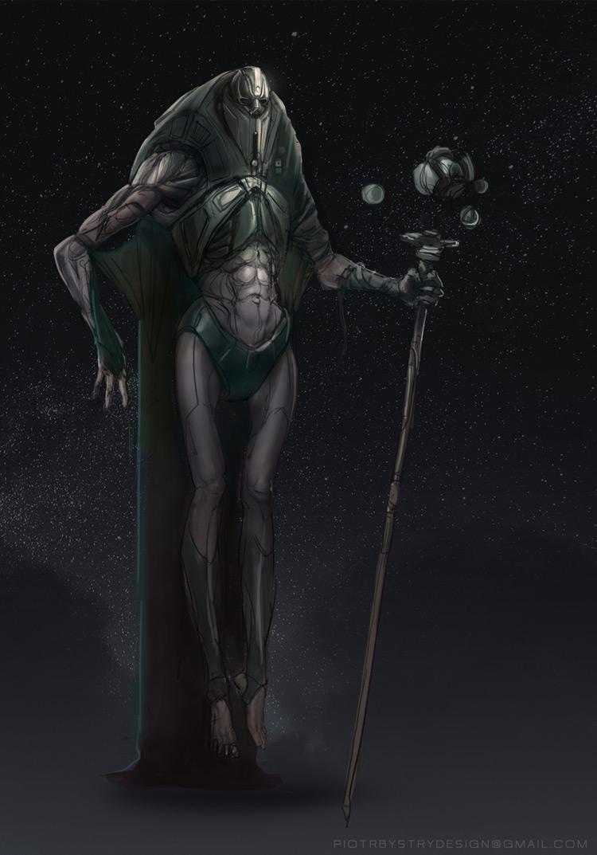 alien mage general art illustration