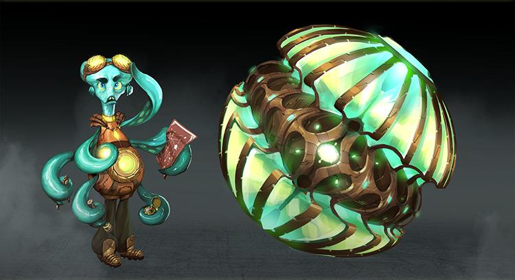 alien creature octopus character art concept