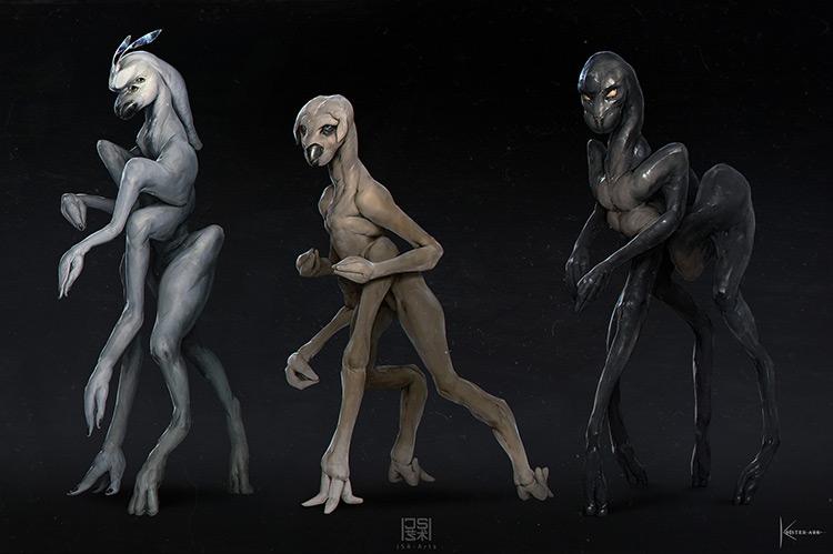 aliens creatures monsters characters art concept