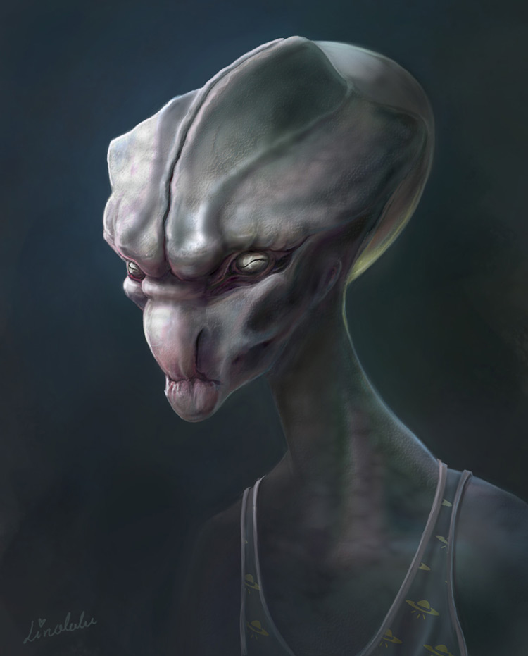alien creature character art illustration