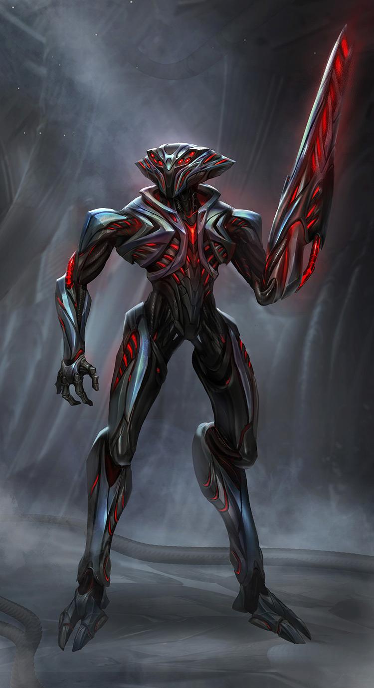 alien droid sci-fi concept art
