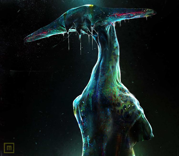 alien character creature monster concept art