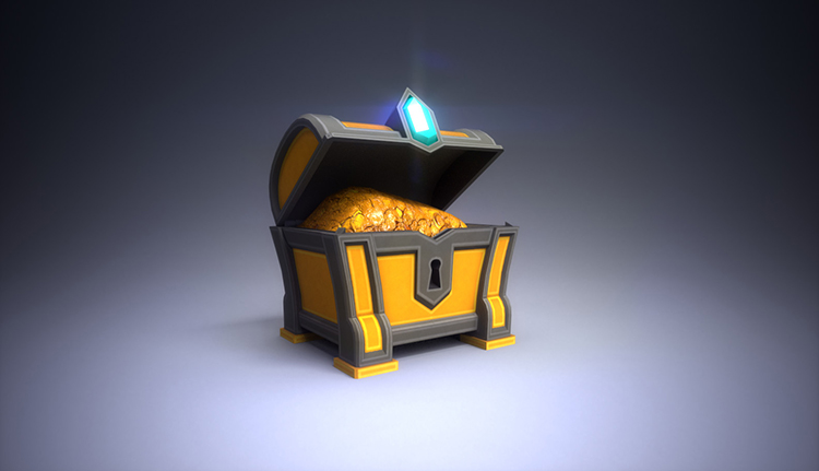 chest gold treasure art concept