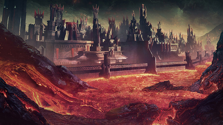 Fiery Volcano Environment Concept Art Gallery