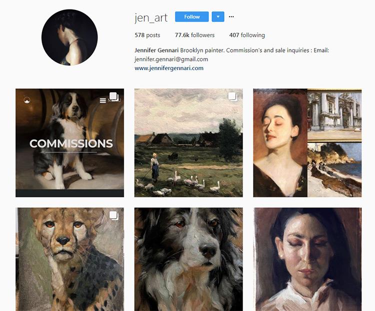 Jen Gennari Artist Instagram