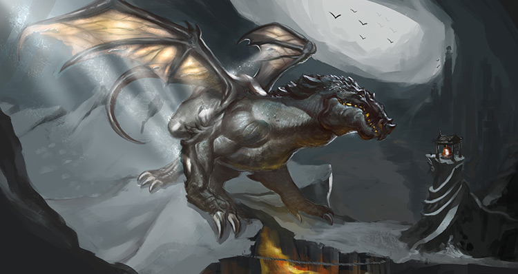 dragon monster summon fantasy art