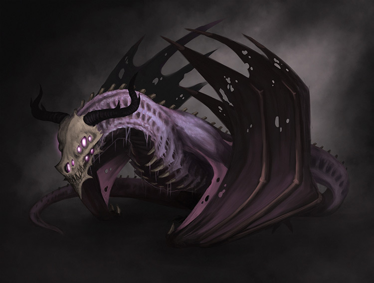 dragon monster creature concept art