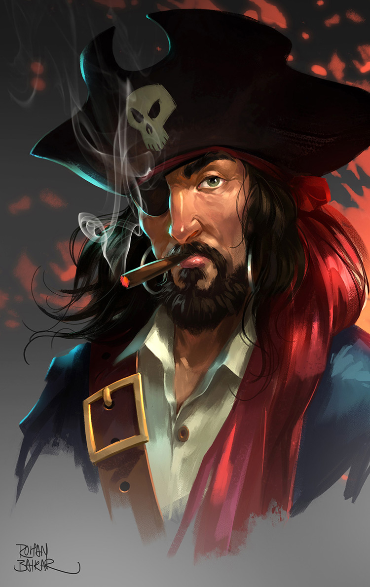 pirate corsair portrait art concept