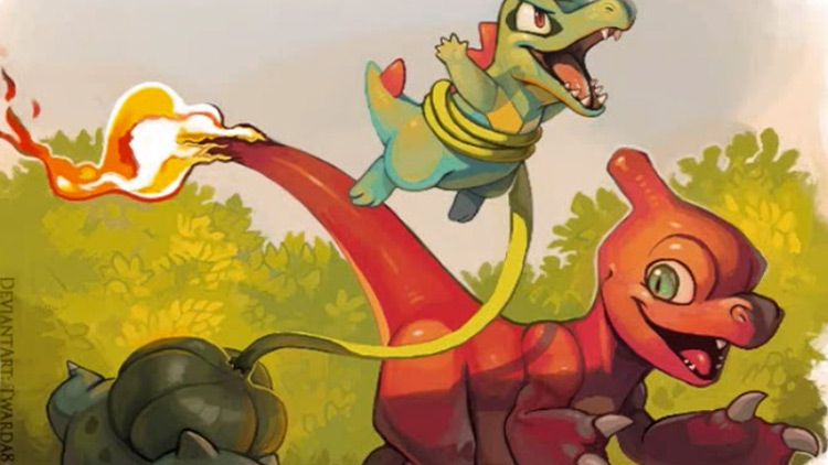 Now If You Want Something A Little More Complex Check Out This Speedpaint Video Featuring Charmeleon Bulbasaur And Totodile
