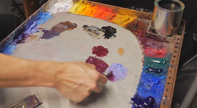 Westerberg paints palette closeup