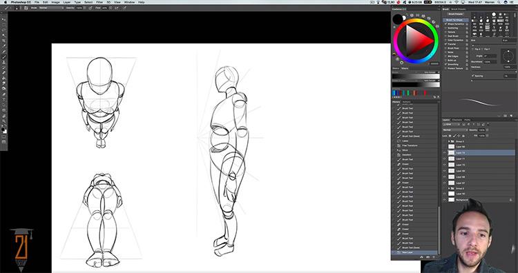 21-Draw Human Anatomy digital course