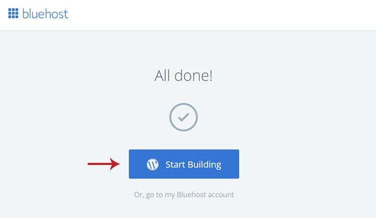 Get started with WordPress button