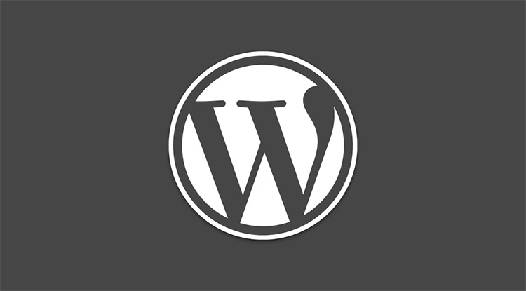 WordPress logo dark theme