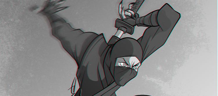 Black & White Ninja Character