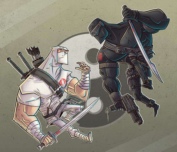 ninjas g.i. joe vintage art illustration
