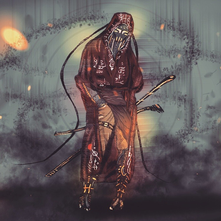 ninja cyberpunk samurai digital art