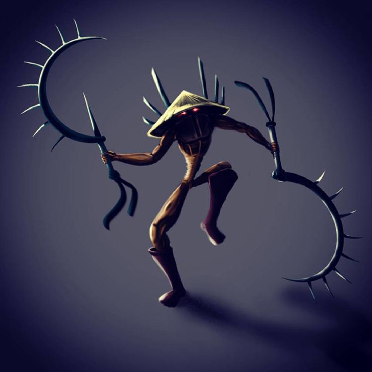 ninja dark reaper fantasy sketch art illustration