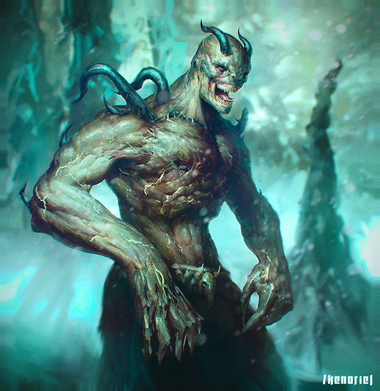 demon monster doom creature art concept