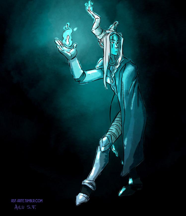 demon guardian character design concept art