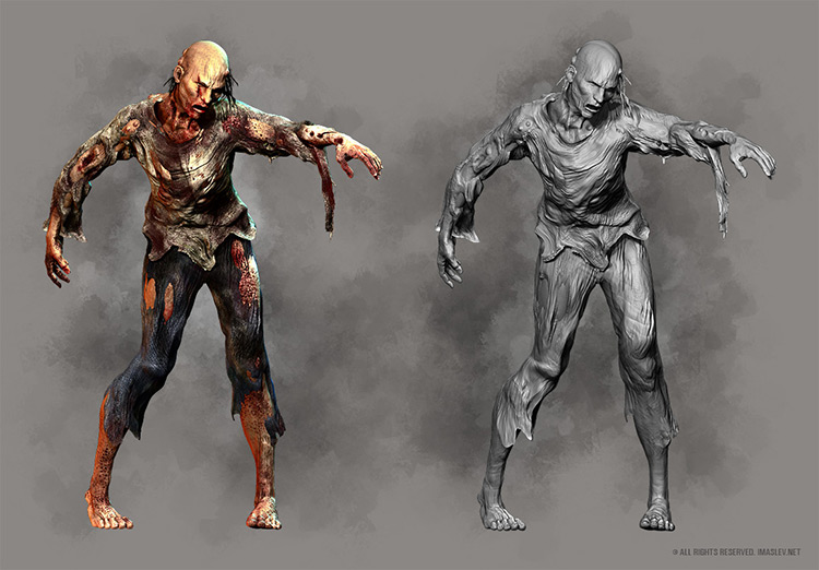 zombie creature character concept art
