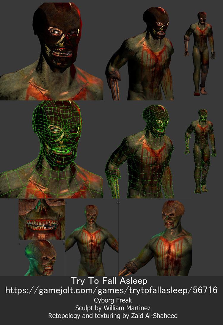 zombie macabre character design concept art