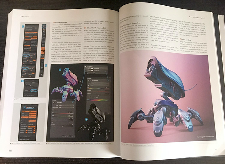Zbrush For Beginners book photo by CAE