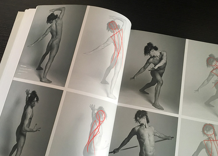 Figure pose photos book pages