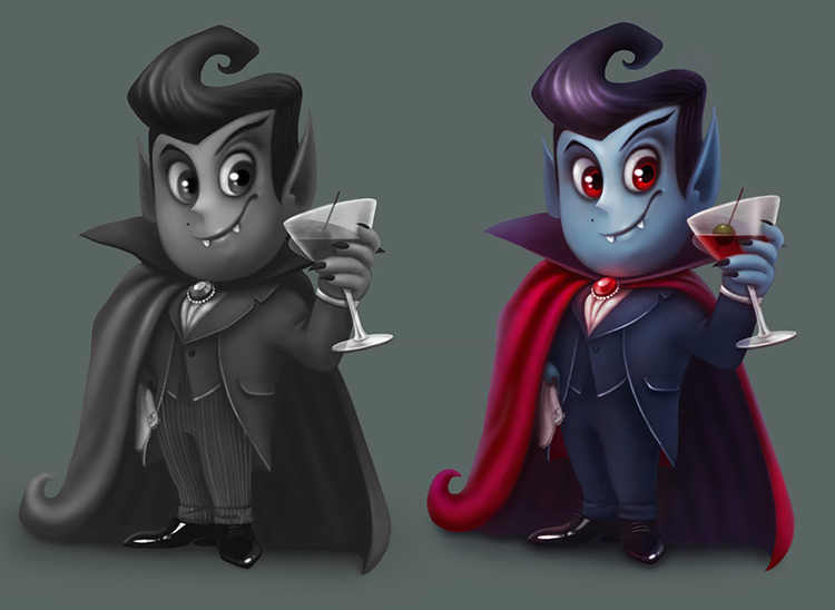 vampire nosferatu blood character art illustration