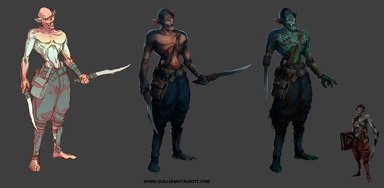 vampire blades vicious character art concept