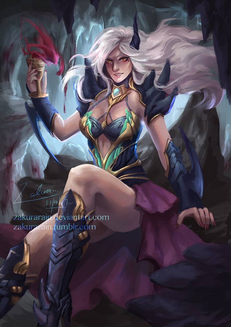 vampire female cavern fantasy art illustration