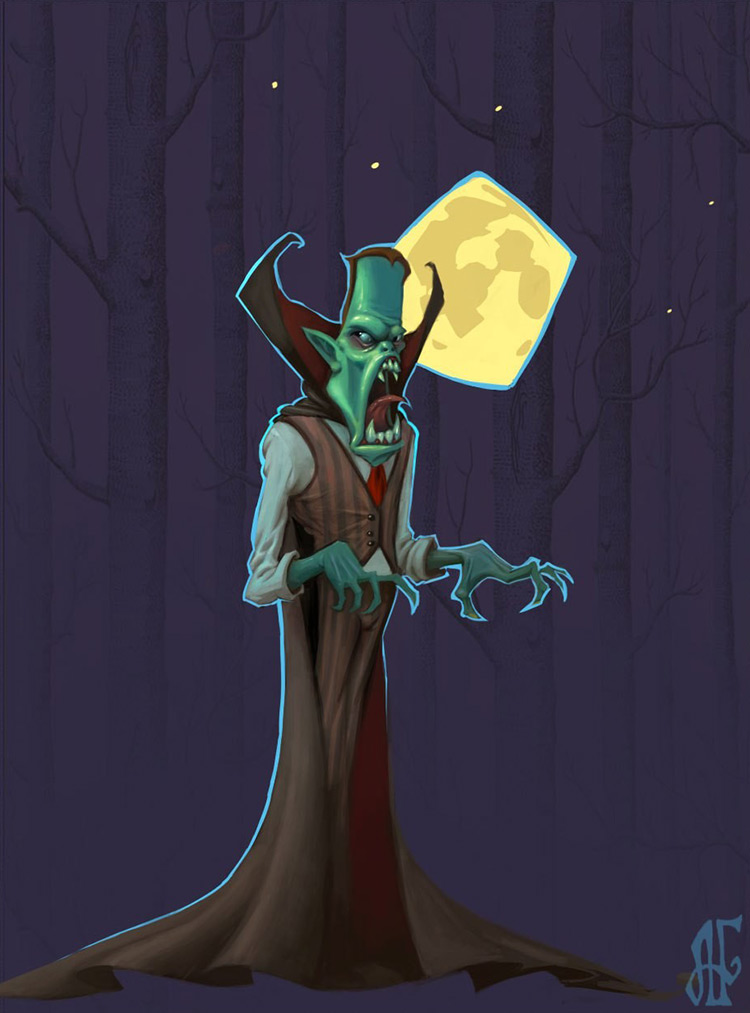 vampire cartoon character design art illustration