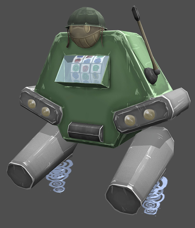 robot casino military design concept art