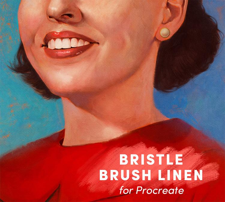 Bristle brushes procreate