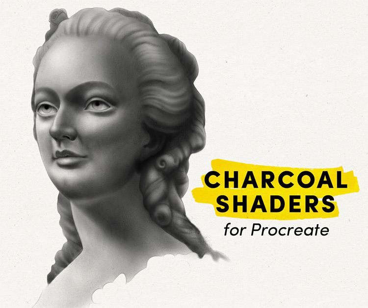 Charcoal procreate brushes pack